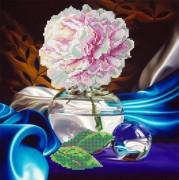 Рисунок на ткани для вышивки бисером Пион в вазе