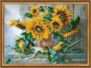 Набор для вышивки бисером Цветы солнца