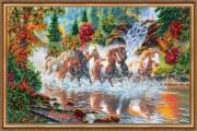 Набор для вышивки бисером Семёрка лошадей