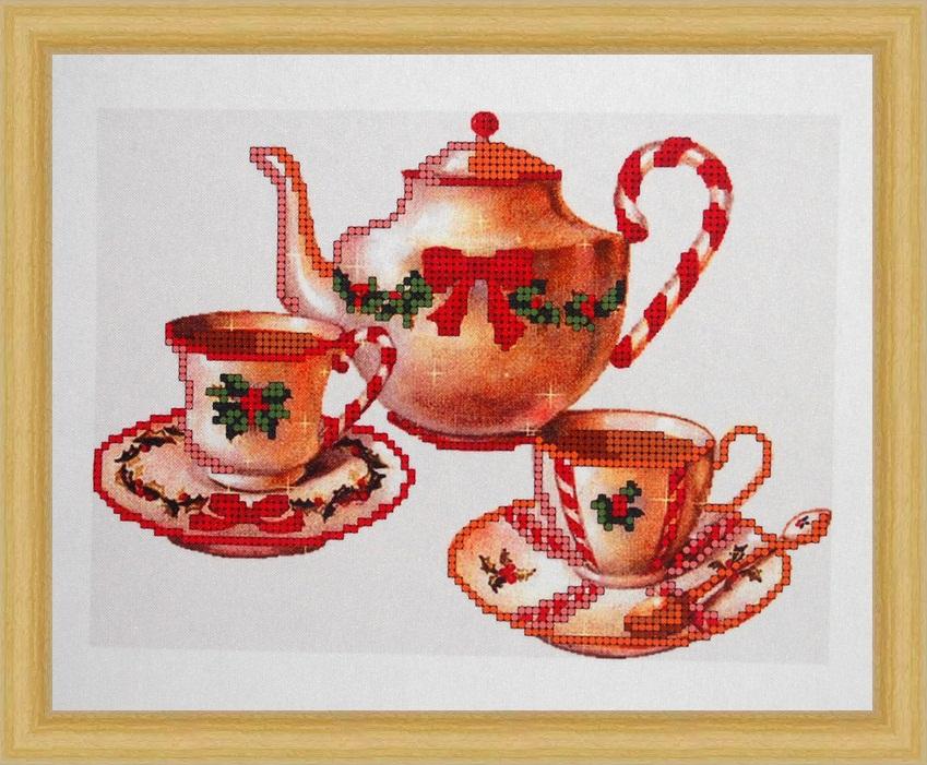Рисунок чайного сервиза красками бывшего