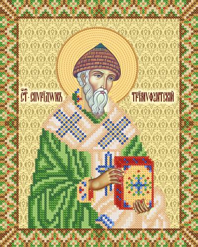 Икона спиридона тримифунтского бисером